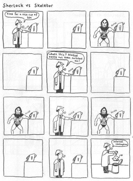 Sherlock Holmes Vs Skeletor Gareth J Brookes Good Comic Books
