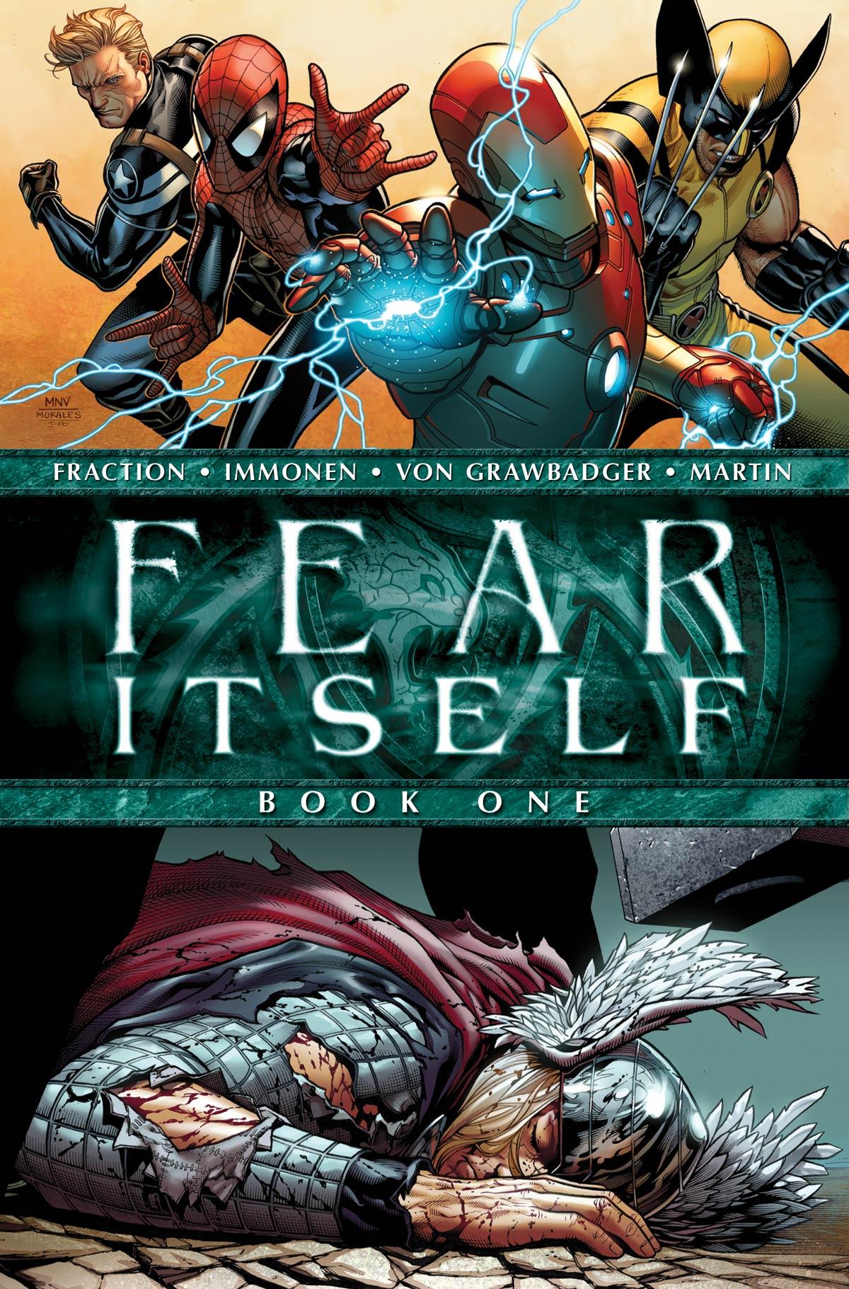 Fear Itself #1 Preview Cover Matt Fraction Steve McNiven Marvel Comics Thor Iron Man Spiderman Wolverine Avengers